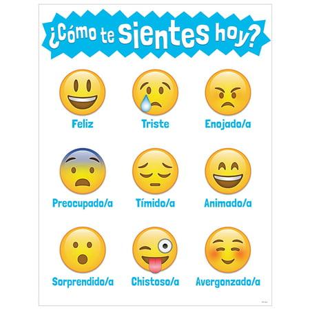 Creative Teaching Press CTP5392 Como te sientes hoy Emoji Chart - image 1 de 1