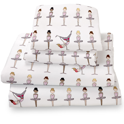 Where the Polka Dots Roam Ballerina / Brake Dancer Extra Deep Pocket Sheet Set