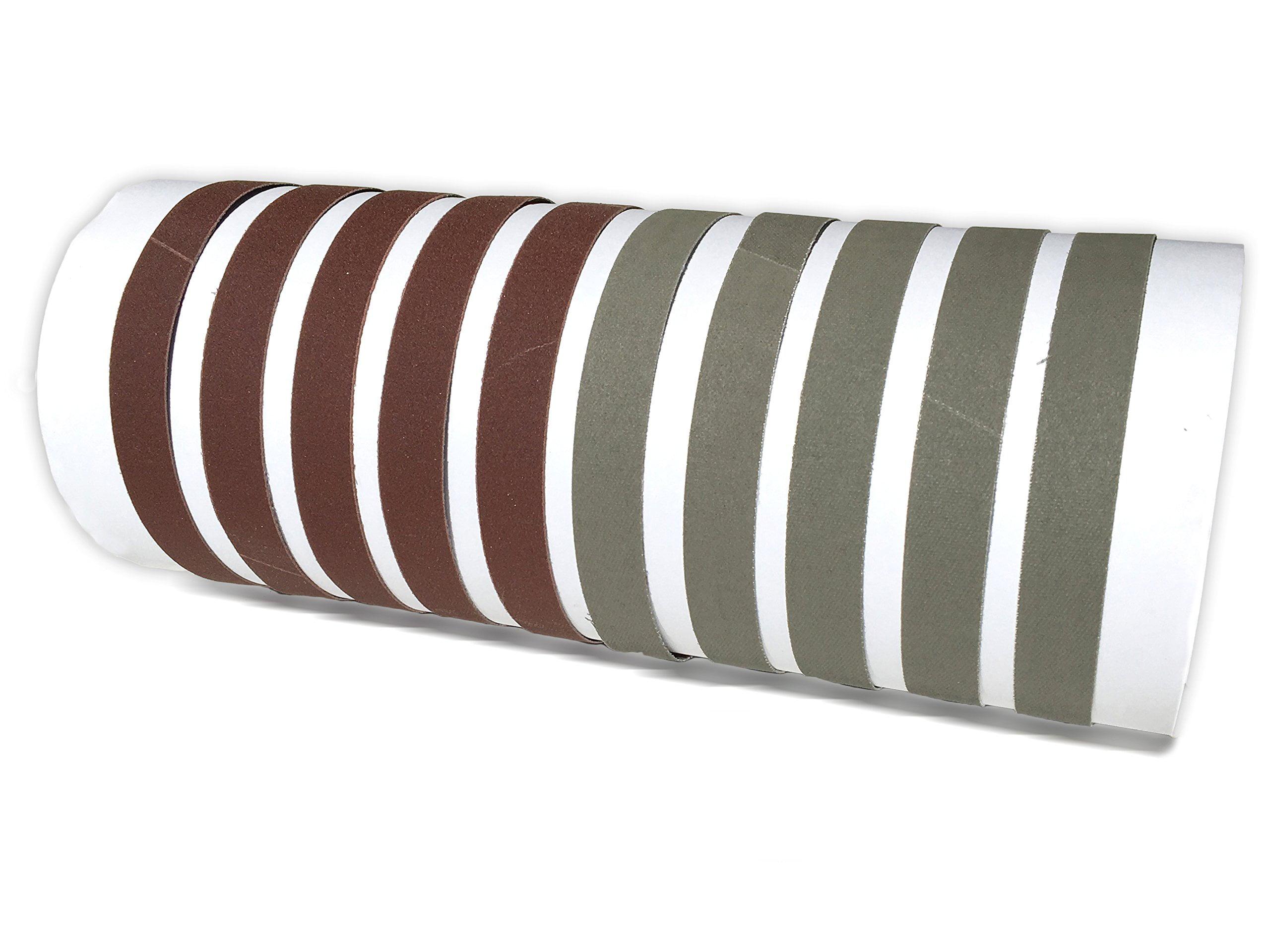 1 X 18 Inch Knife Sharpener Sanding Belts, 10 Pack (Compatible with Work Sharp Ken Onion... by Red Label Abrasives