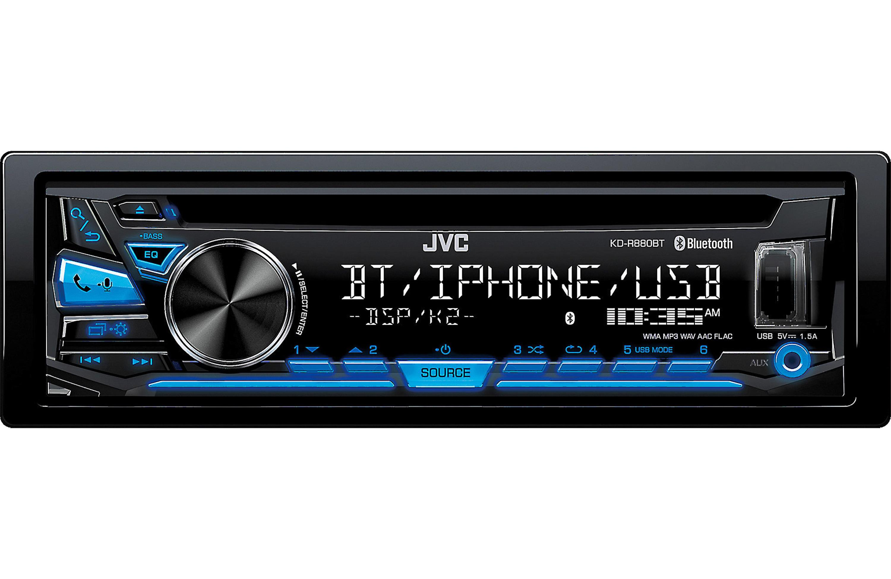 JVC KDSR83BT In-Dash CD- Built-in Bluetooth, USB and Detachable Faceplate on