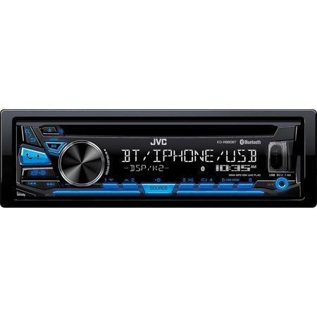 JVC KDSR83BT In-Dash CD- Built-in Bluetooth, USB and Detachable Faceplate
