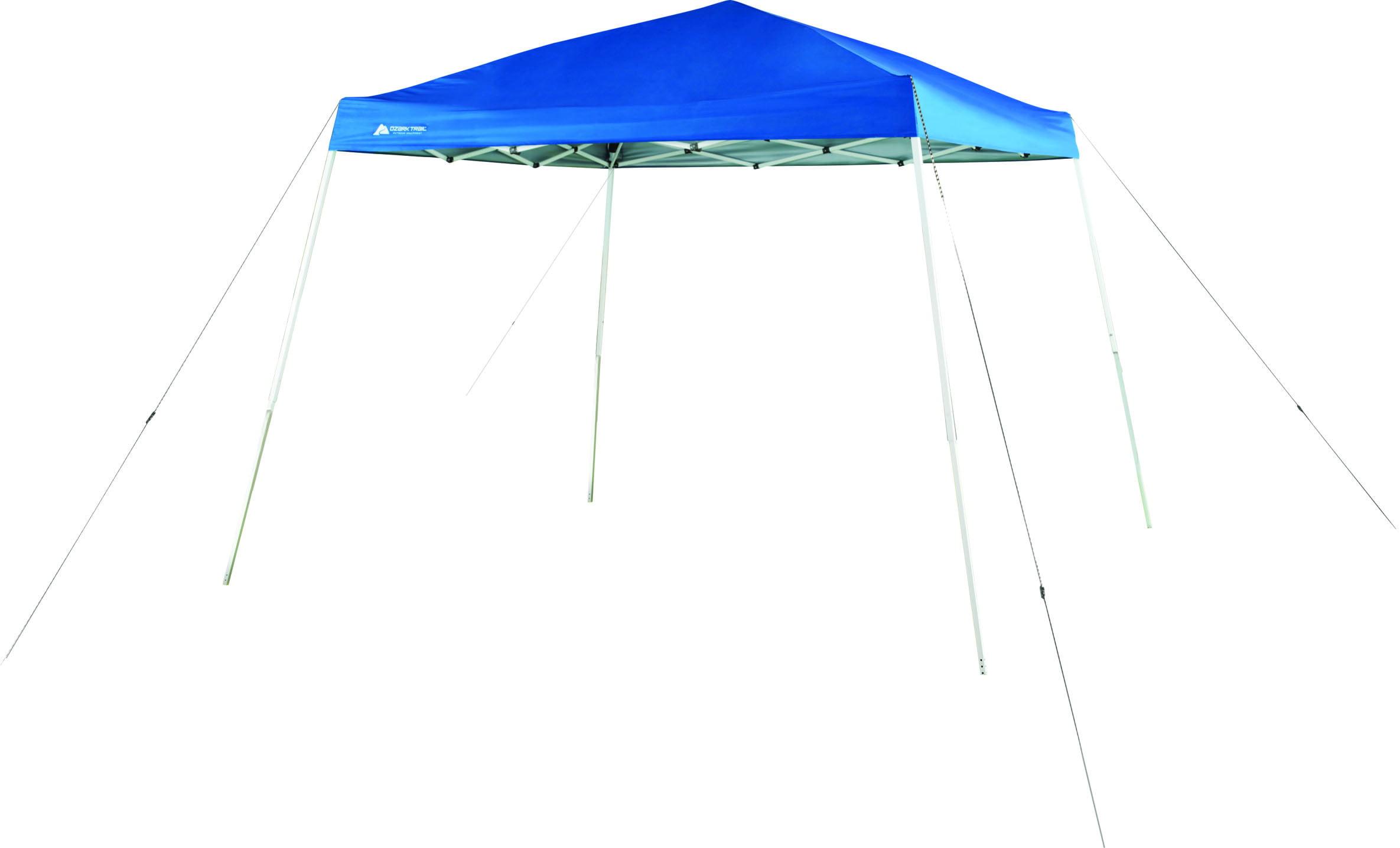 Ozark Trail 10\' x 10\' Instant Slant Leg Tent Canopy with Frame, Blue ...