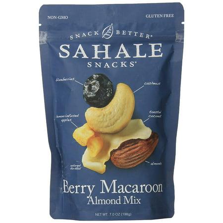 4 PACKS : Sahale Snacks Nut Blends Almond Mix, Berry Macaroon, 7 Ounce