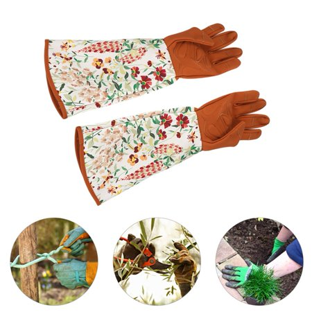 Yard Gloves,Ymiko 1 Pair of Long Sleeve Gardening Gloves Hands Protector for Garden Yard Pruning Trimming Use