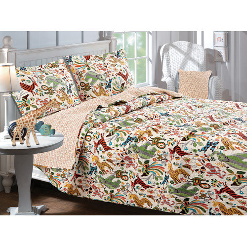 Bundle-37 Greenland Home Fashions Safari Park Quilt Collection (2 Pieces)