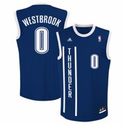 Russell Westbrook Oklahoma City Thunder NBA Adidas Mens Blue Official Replica Jersey
