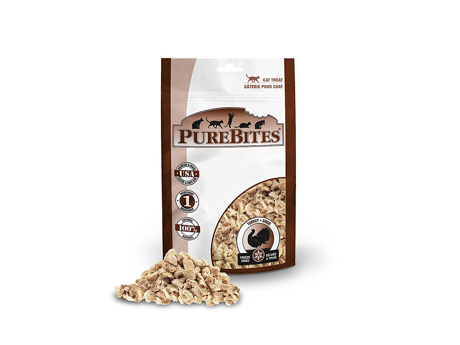 Freeze Dried Turkey Breast Cat Treats, Go ahead, turn the bag around and look at the ingredients. PureBites... by