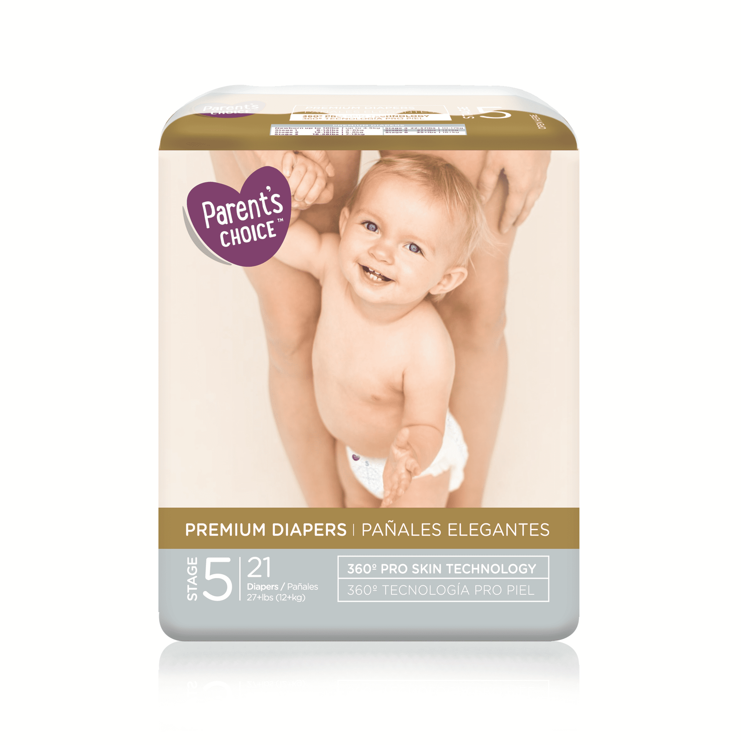 Parent's Choice Premium Diapers, Size 5, 21 Diapers