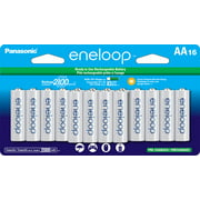 Panasonic eneloop BK-3MCCA16FA Pre-Charged AA Rechargeable Batteries, 16 Pack