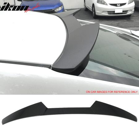 16-18 Honda Civic X 10th Gen Sedan 4Dr V Style Roof Spoiler Wing - ABS ()