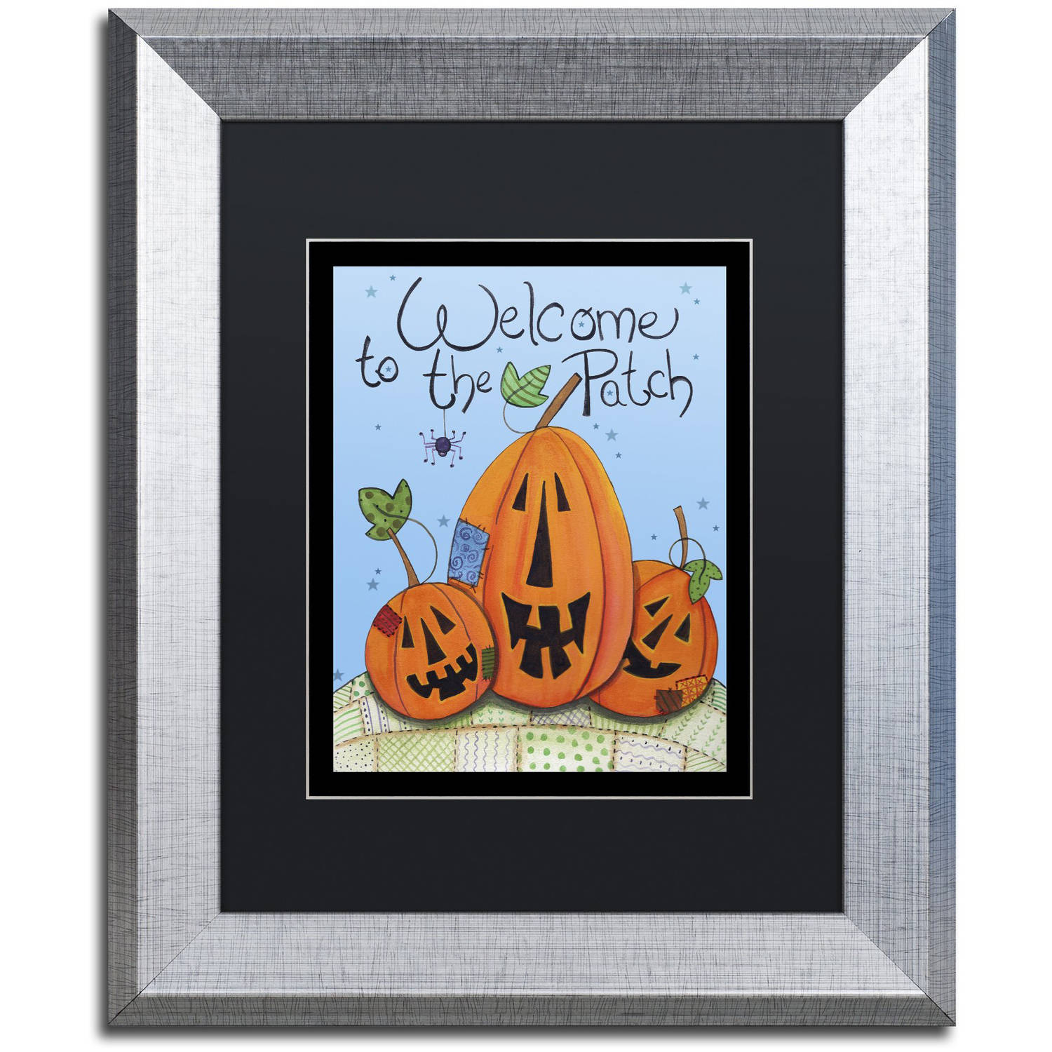 """Trademark Fine Art """"Welcome to the Patch"""" Canvas Art by Jennifer Nilsson, Black Matte, Silver Frame"""