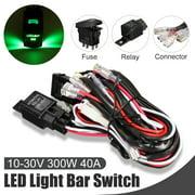 Grtsunsea Car Laser Rocker Switch Wiring Harness LED Light Bar 5 Pin on