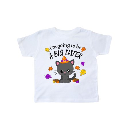 I'm Going to be a Big Sister- cute Halloween cat Toddler T-Shirt (Cute Halloween Drink Names)