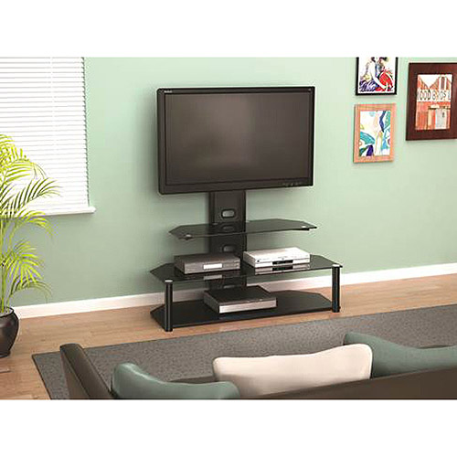 """Z-Line Designs Lucia Television Stand With Mount, for TVs up to 55"""", Black"""