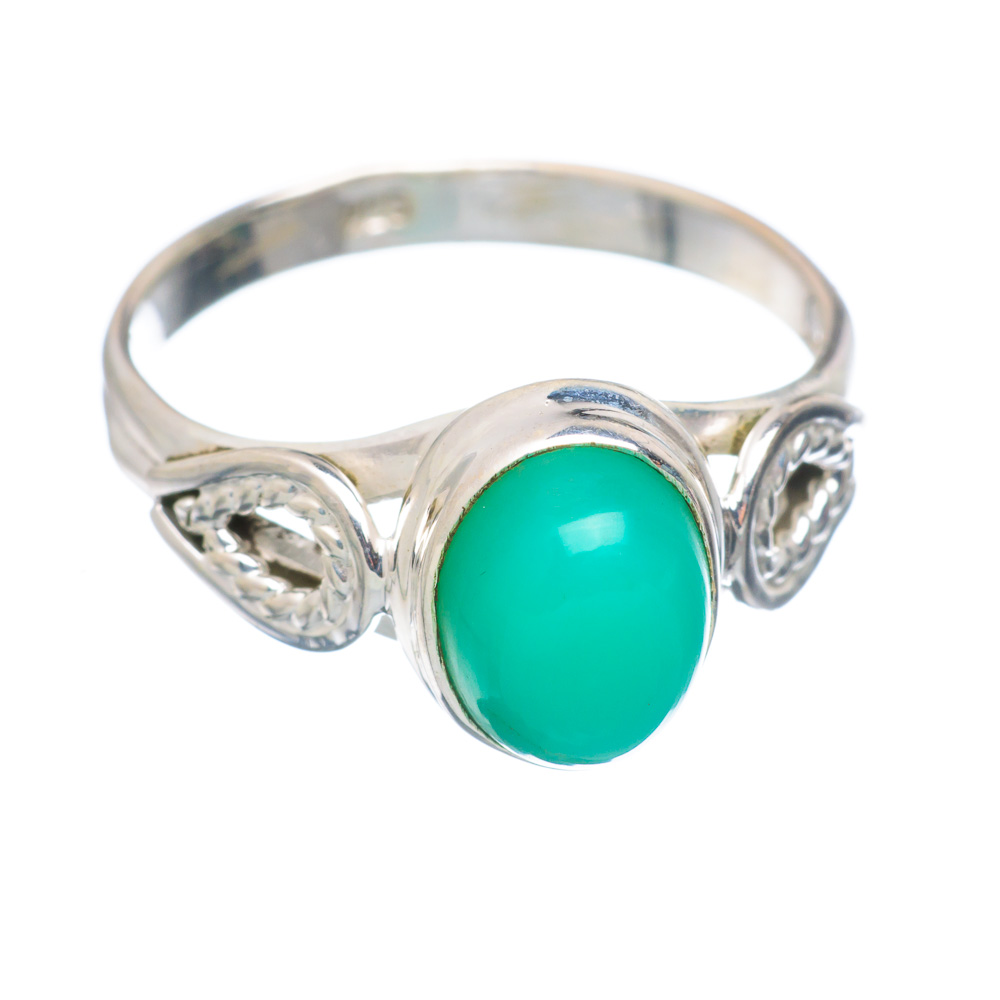 Ana Silver Co Chrysoprase Ring Size 8 (925 Sterling Silver) Handmade Jewelry RING854853 by Ana Silver Co.