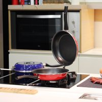 Magefesa Omelette 9.5 in. Porcelain on Steel Frypan in Blue 2 pcs.