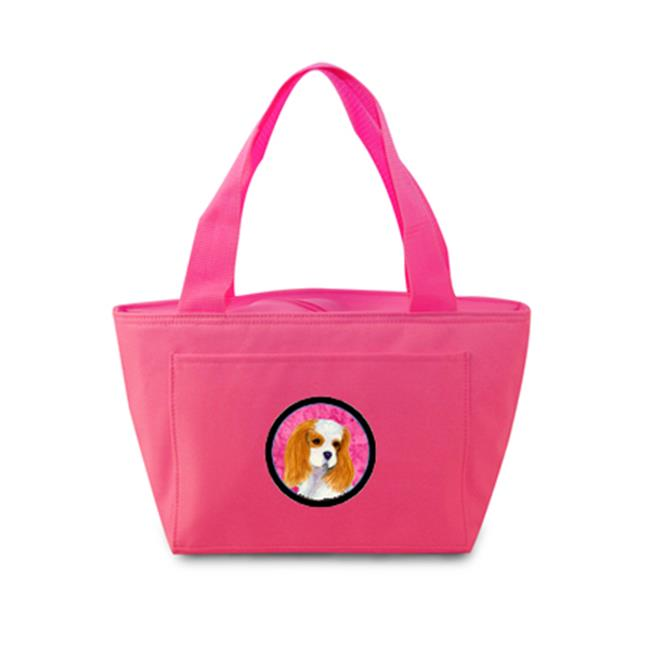 Pink Cavalier Spaniel Zippered Insulated School Washable And Stylish Lunch Bag Cooler