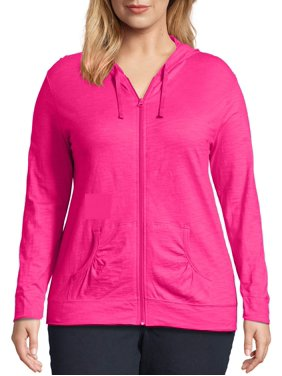 Just My Size Women's Plus Size Slub Jersey Hoodie
