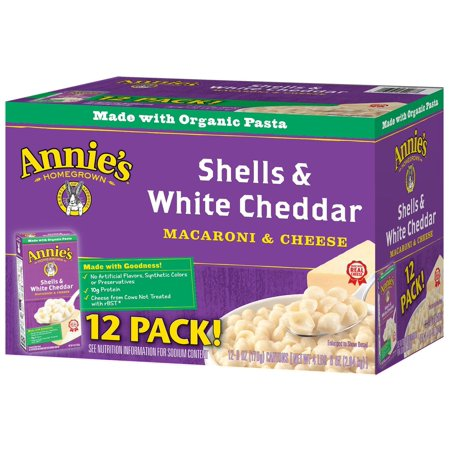 Discount Shell - Product of Annie's Homegrown Shells and White Cheddar, 6 oz., 12 pk. [Biz Discount]
