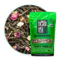 Tiesta Tea Slenderizer, Fruity Pebbles, Loose Leaf Green Tea Blend, Medium Caffeine, 1 Lb Bulk Bag