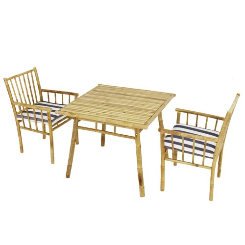 Bay Isle Home Kridia 3 Piece Bistro Set with Cushions by