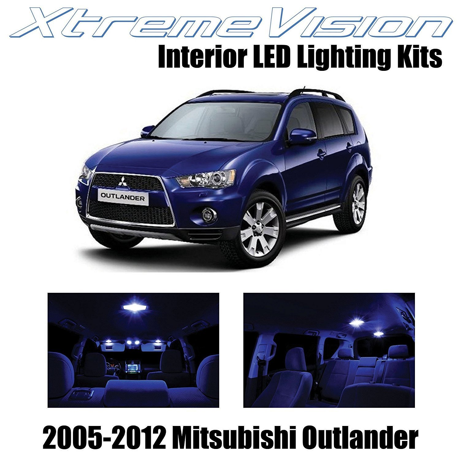 XtremeVision LED for Mitsubishi Outlander 2005-2012 (4 Pieces) Red Premium Interior LED Kit Package + Installation Tool
