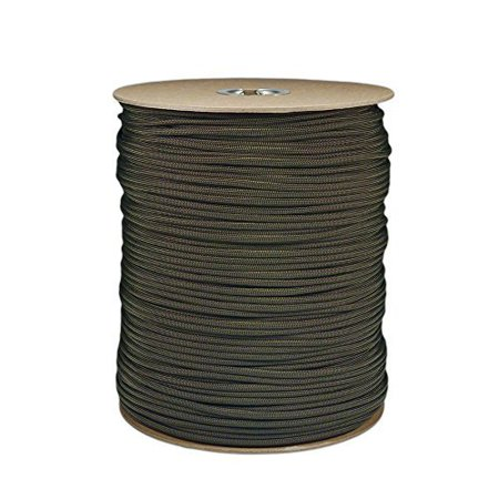 1000' Foot OD Olive Drab Green Parachute Cord Paracord Type III Military Specification 550 thumbnail
