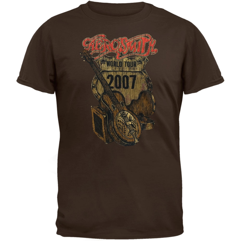 Image of Aerosmith - Distressed Sketch 07 Tour Soft T-Shirt