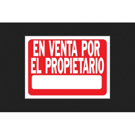 Hy Ko Spanish 18 In  H X 24 In  W Plastic Sign En Venta Por El Propietario  For Sale By Owner