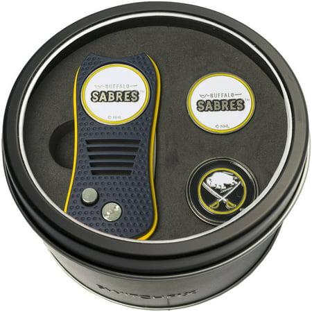Team Golf NHL Tin Gift Set with Switchfix Divot Tool and 2 Ball Markers Divot Golf Ball 2 Marker