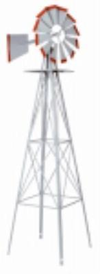 8' American Windmill Lawn Ornament Easily Assembled by Windmills
