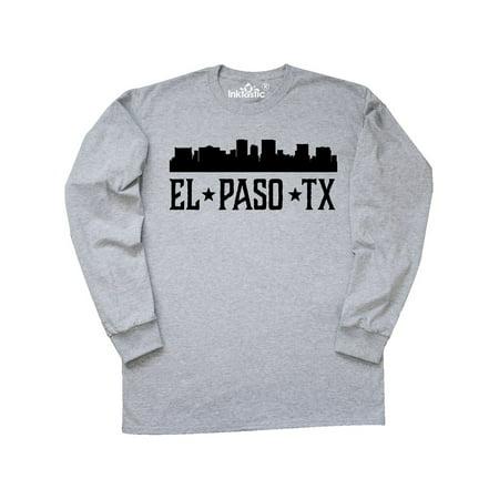 El Paso Texas City Skyline Long Sleeve T-Shirt - Party City El Paso Texas