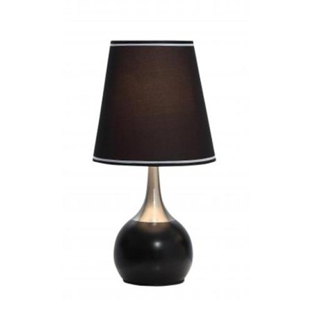 Ok Lighting Ok 815Bk Sp1 23 In  H Contempo Deluxe 3 Way Table Touch Lamp Black