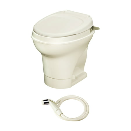 Profile Aqua Rack - Aqua Magic V RV toilet Hand Flush with Hand Sprayer / High Profile / Parchment - Thetford 31676