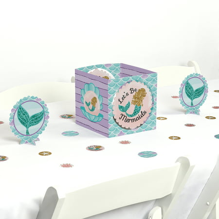 Let's Be Mermaids - Baby Shower or Birthday Party Centerpiece & Table Decoration Kit
