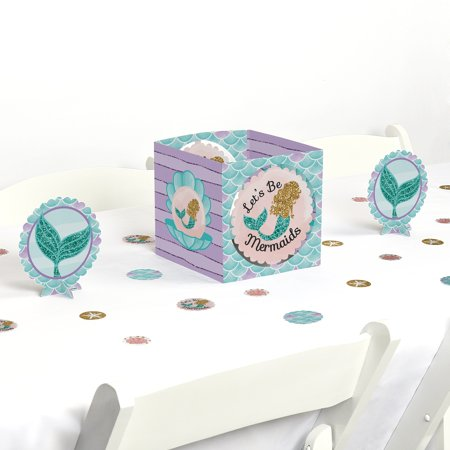 Mermaid Baby Shower (Let's Be Mermaids - Baby Shower or Birthday Party Centerpiece & Table Decoration)