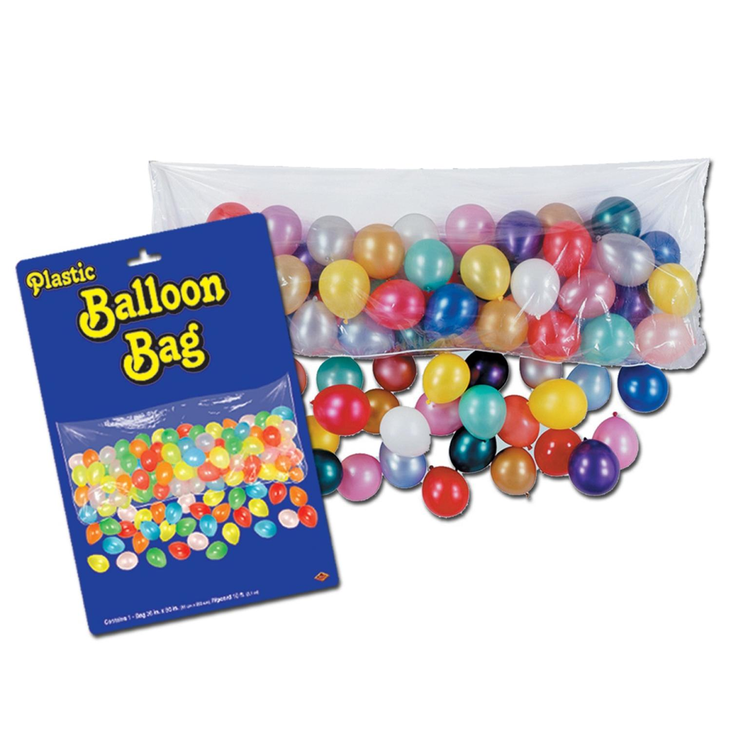 Club Pack of 12 Clear Plastic Balloon Bags w/100 No 6 Balloons 80""
