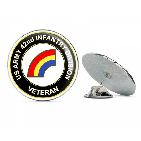 "U.S. Army 42nd Infantry Division Veteran Metal 0.75"" Lapel Hat Pin Tie Tack Pinback"