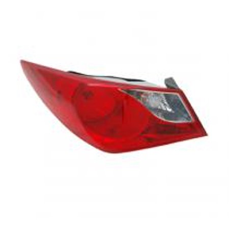 Go-Parts » 2011 - 2014 Hyundai Sonata Rear Tail Light Lamp Assembly / Lens / Cover - Left (Driver) 92401-3Q000 HY2804116 Replacement For Hyundai Sonata