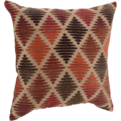 Better Homes and Gardens Chenille Diamonds Decorative Pillow, Rust