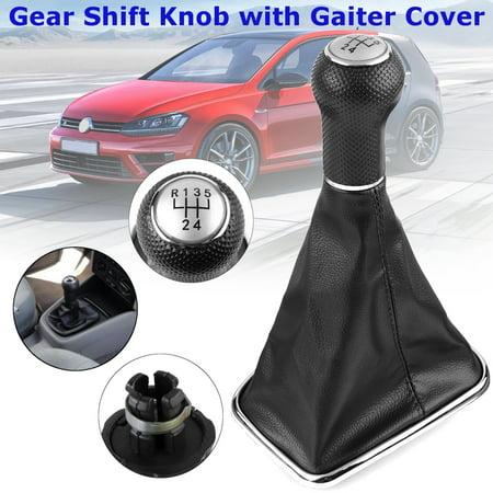 5 Speed Gear Shift Knob Shifter Gaiter Boot For VW Golf MK4 GTI R32 Jetta