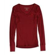 Aeropostale Juniors A87 V Neck Embellished T-Shirt