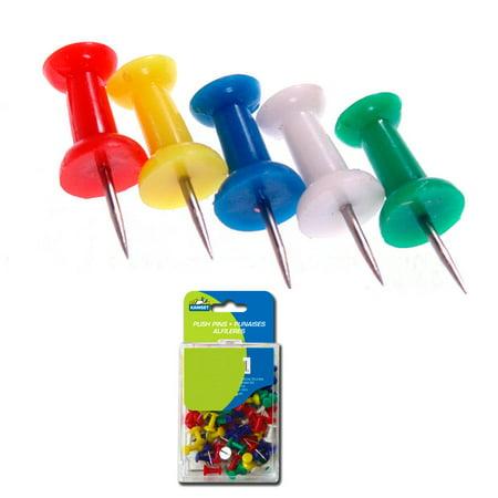 100 Pcs Push Pin Thumb Tack Multi Color 3/8