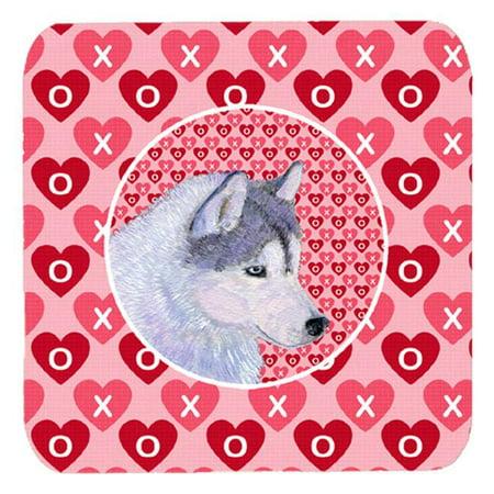 Siberian Husky Foam Coasters - Set 4, 3.5 x 3.5 In. - image 1 of 1
