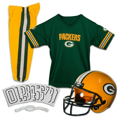 Franklin Sports NFL Green Bay Packers Youth Licensed Deluxe Uniform Set, Large - Packers Uniforms