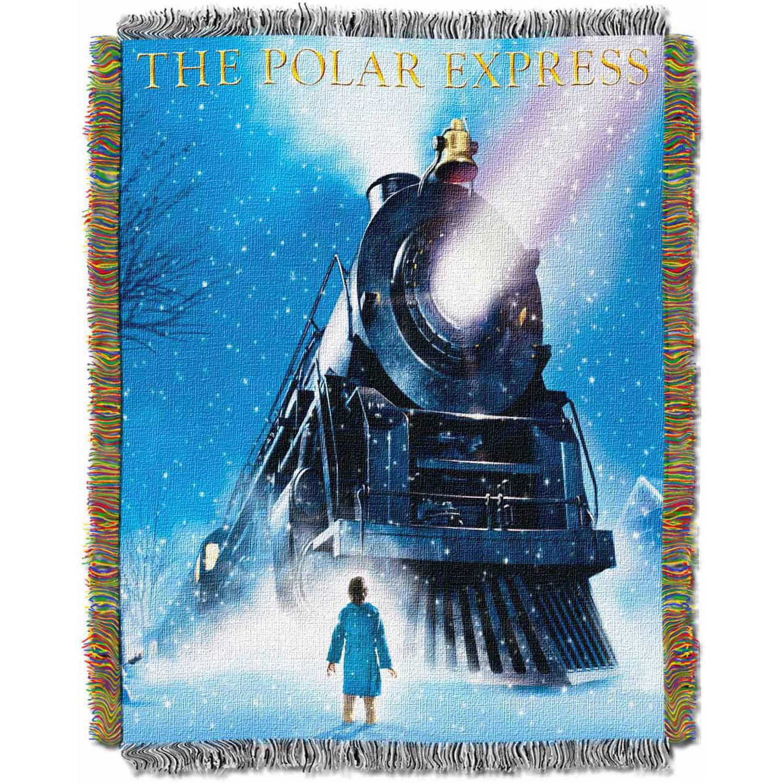 "Warner Bros. Polar Express ""Engine Wonder"" 48"" x 60"" Woven Tapestry Throw"