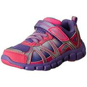 Stride Rite Little Kids Girls Racer Light-Up Starpower Running Sneaker Shoes, Pink