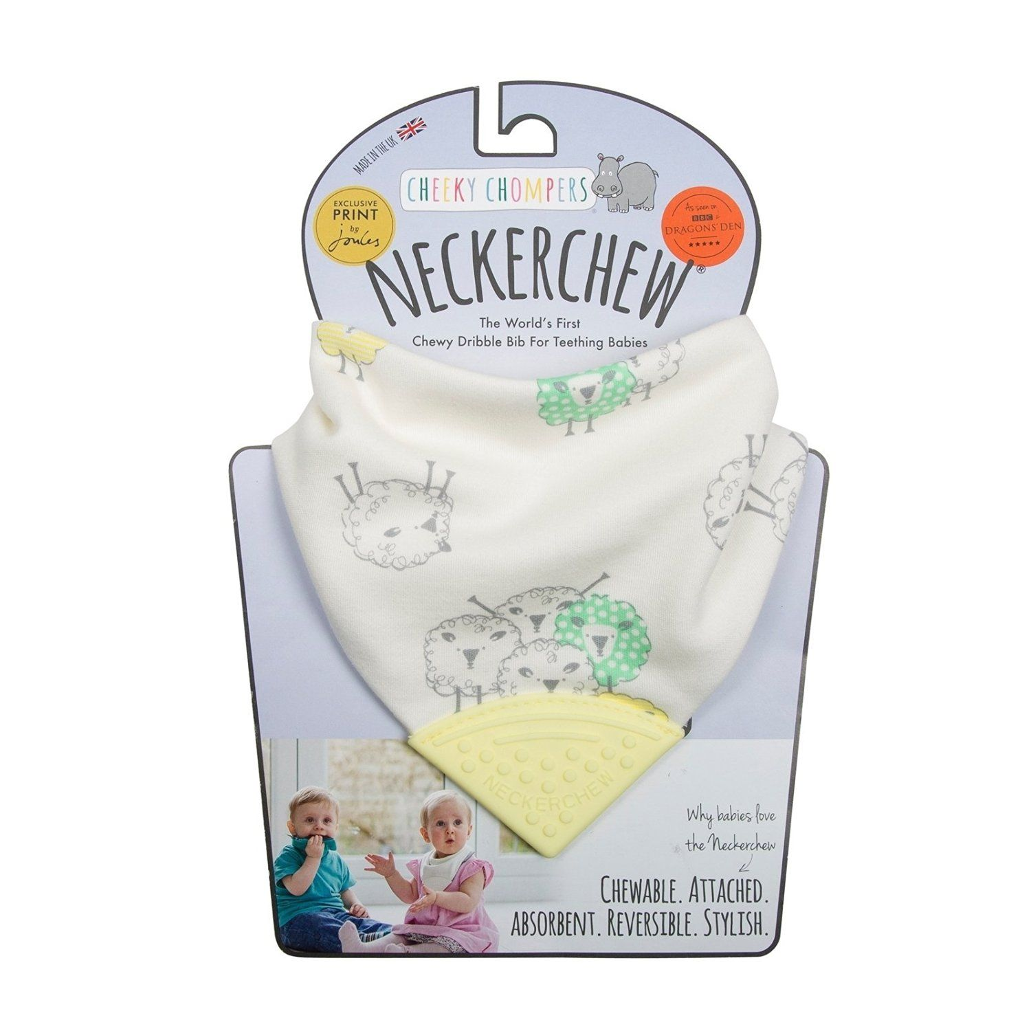Neckerchew - Barnaby Sheep - Baby Toy by Cheeky Chompers
