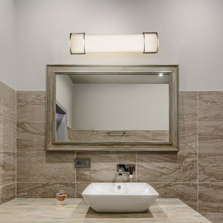Costway 24'' 17W Integrated LED Linear Vanity Light Bar Wall Sconce Bathroom Aisle (3 Light Linear Bar)