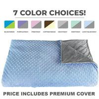 Platinum Health CALMFORTER(tm) Premium Weighted Blanket 15 lbs for Adults & Children Pink, Blue, Purple, Brown, Gray...